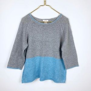 Sundance Boxy Colorblock Crop Sleeve Sweater